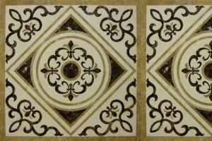 Đá hoa văn vuông họa tiết hoa lá tây